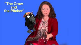 """Visual Storytelling Demonstration Aesop's Fable - """"The Crow and the Pitcher"""""""