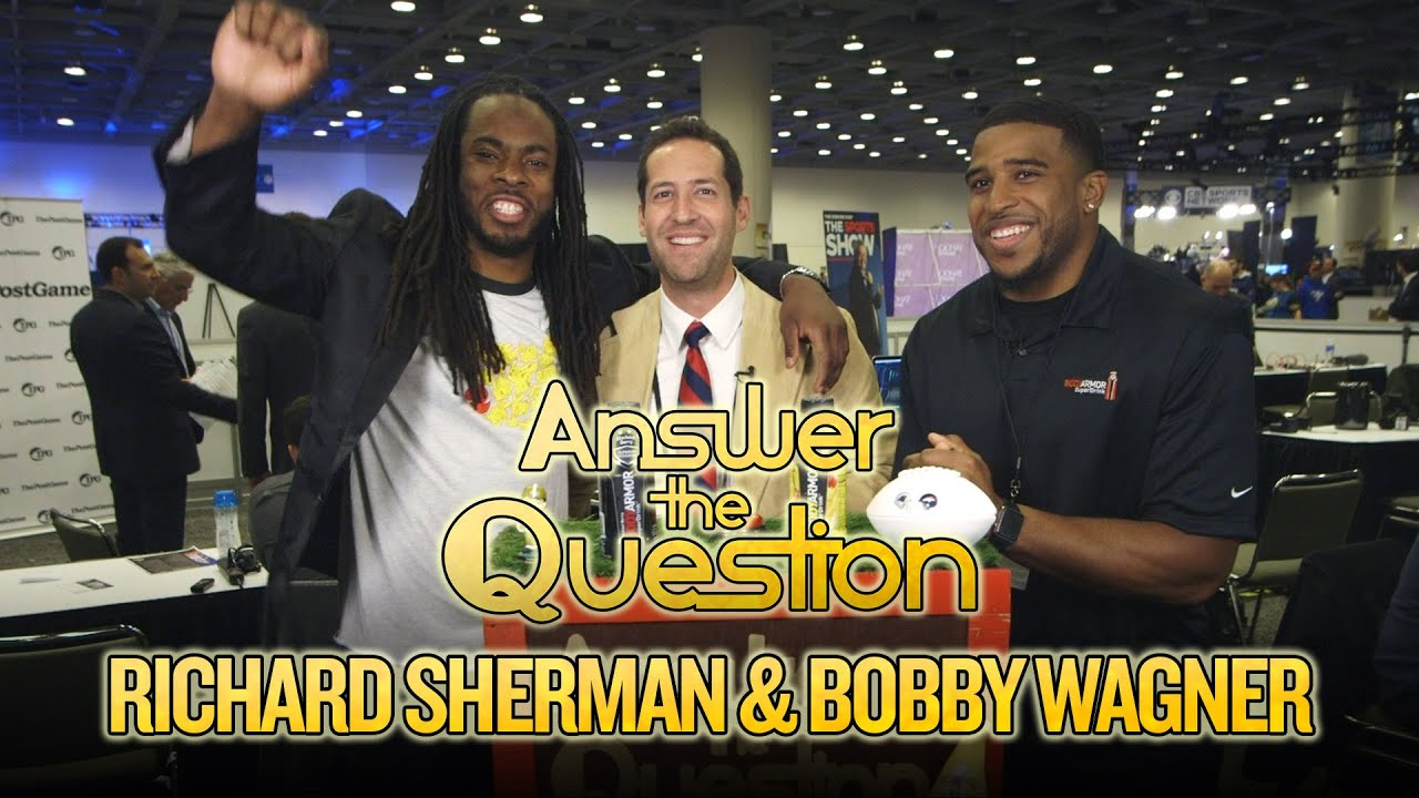 2016 Super Bowl: Richard Sherman and Bobby Wagner compete against each other in trivia thumbnail
