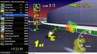 "Mario Kart 64 Emu - All Cups No Skips Run 41'48""37"