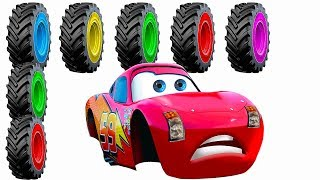 Wrong Wheels Cars Change Tires and Colors  Summer & Winter  Dirt and Ice  Fun Compilation Cartoon