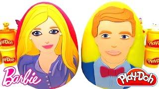 Barbie ve Ken Sürpriz Yumurtaları - 2 Dev Sürpriz Yumurta Barbie Elbiseleri Aksesuarları