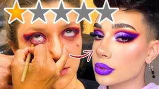 THE WORST REVIEWED MAKEUP ARTIST COPIED JAMES CHARLES