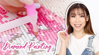 I Tried Painting With Diamonds | TINA TRIES IT