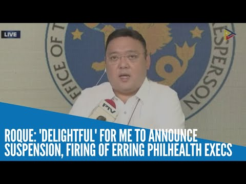 [Inquirer]  Roque: I can't wait to announce who'll be fired from PhilHealth