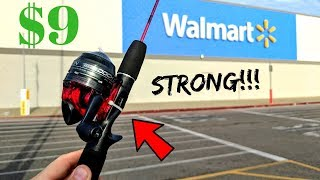MICRO Fishing Rod From WALMART Is CRAZY STRONG!!!
