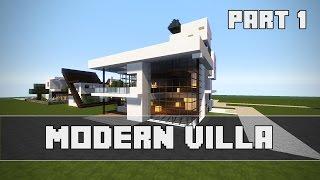Einfache Moderne Villa Minecraft Tutorial Part German Most - Minecraft aubergewohnliche hauser