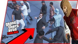 A BEAST TRIED TO TAKE OVER OUR FIGHT CLUB! - GTA 5 Fight Club