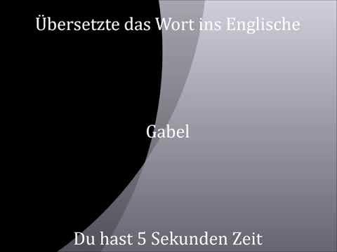 Gabel | deutsch - englisch