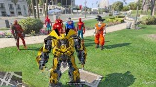 GTA 5 Mod - Bumblebee (Transformers) Quẩy Nát Thành Phố Trong GTA V