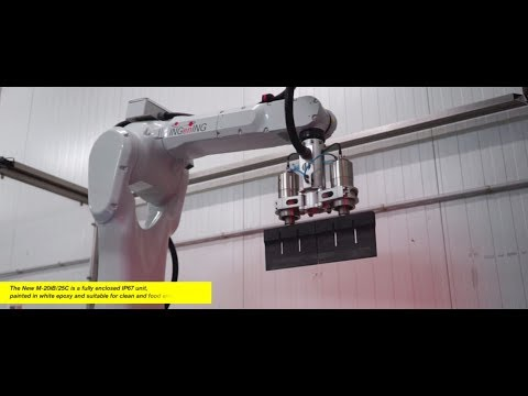 Cutting cakes with FANUC M-20iB/25C for clean and food environments