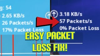 HOW TO REMOVE PACKET LOSS ON FORTNITE IN CHAPTER 2 SEASON 2!