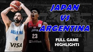 Japan vs Argentina Full Highlights | August 22, 2019 | Fiba World Cup Preparation