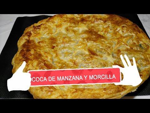 COCA DE MANZANA Y MORCILLA