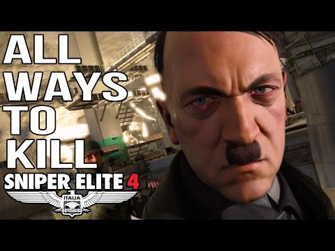 Sniper Elite 4 - All Ways To Kill Hitler - Target Fuhrer