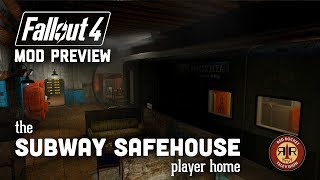 Fallout 4 Mod WIP Preview - The Subway Safehouse Player Home
