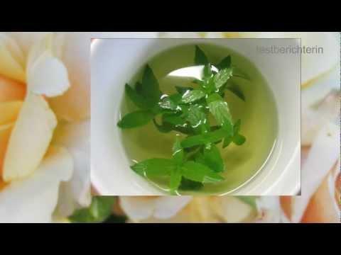 Pfefferminztee selber machen aus frischen Blättern ist kinderleicht - Ich zeige es Euch