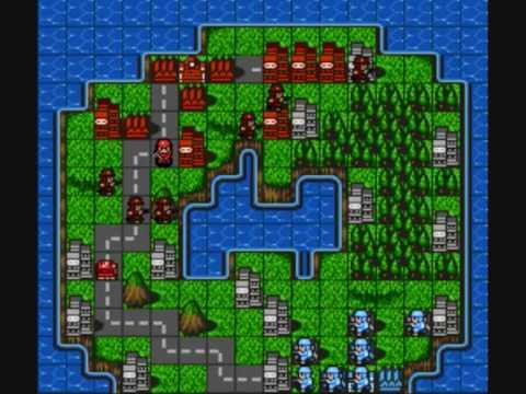 Gameplay - Super Famicom Wars SNES - смотреть онлайн на Hah Life
