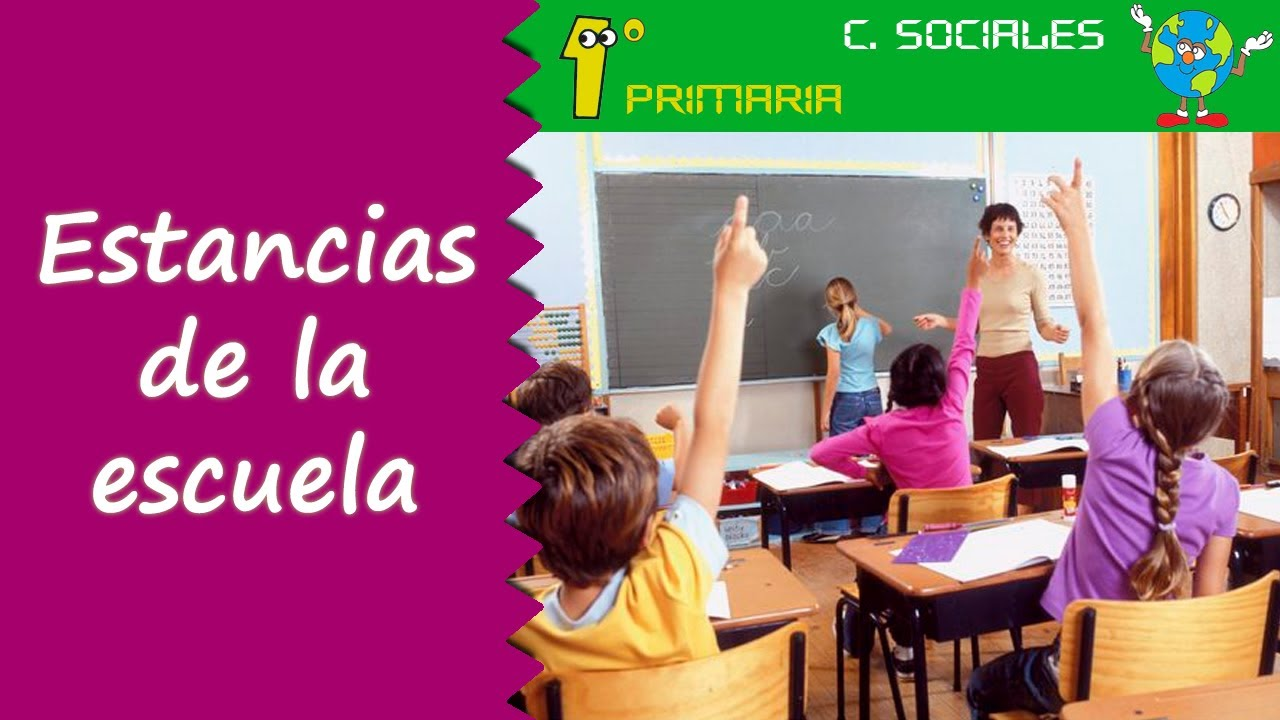 Ciencias Sociales. 1º Primaria. Tema 1: Estancias del colegio