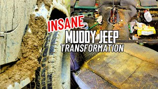 Detailing The Dirtiest Muddiest Jeep Ever! Complete Disaster Car Detail Transformation!