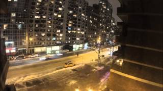 "The biggest ""Blizzard"" in History of New York City - 2015 - time lapse"