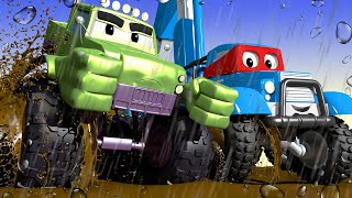 Videa s náklaďáky pro děti - Superdžíp - Supernáklaďák ve Městě Aut