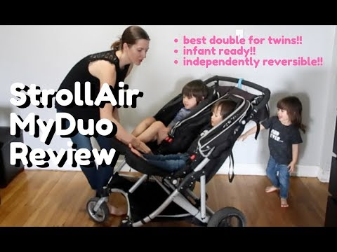 Review of StrollAir MyDuo – the BEST Double Stroller for Twins