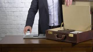 HOW TO PACK | The Buroni Mens Leather Attaché Briefcase