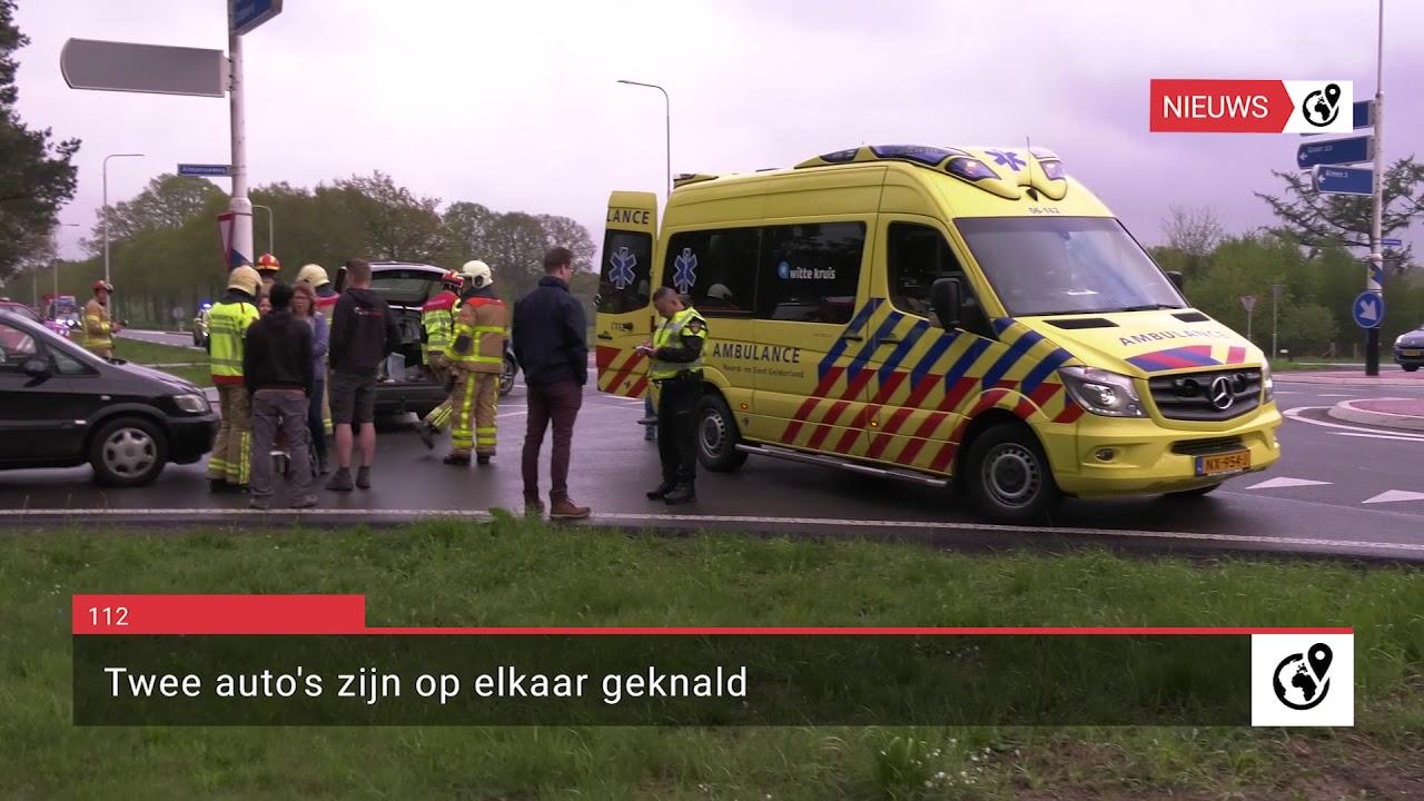 Ongeluk met twee voertuigen op N346