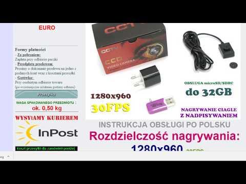 Test, recenzja kamera szpiegowska - kamera guzikowa, mini kamera do 150 zł