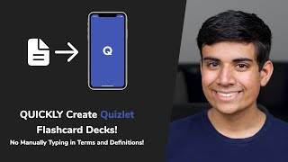 How to QUICKLY Create Quizlet Flashcard Decks - No Manually Typing in Terms and Definitions!