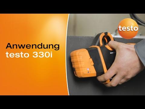 Wartung-eines-Gasgeblaesebrenners-mit-dem-testo-330i-Anwendungsbeispiel