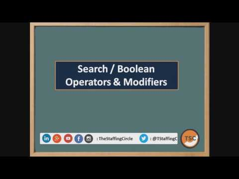Boolean Search, Modifiers & Search String - YouTube
