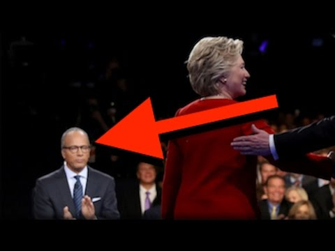 TRUMP WAS RIGHT! WHAT LESTER HOLT HAD IN HIS EAR PROVED HILLARY RIGGED THE DEBATE