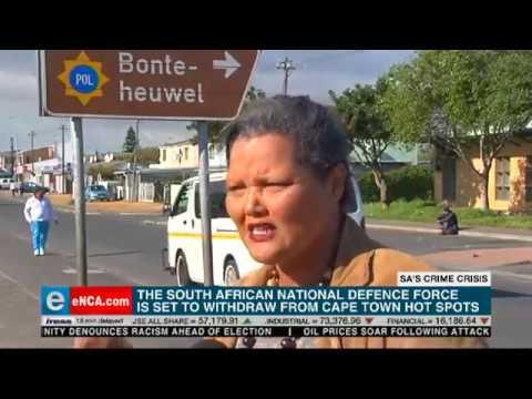 SANDF to leave CT's crime spots | Bonteheuwel
