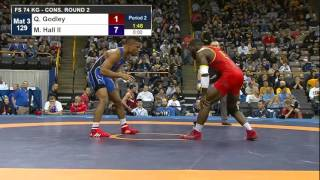 74kg Mark Hall vs Quinton Godley Olympics Team Trials  2016