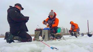 Первая зимняя рыбалка на Днепре с друзьями!