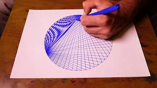 How To Draw Spirograph Pattern Art In Circle | Geometric Tutorial