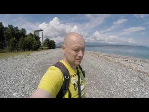 Путешествие в Абхазию. Пицунда. Дельфины в море. Что посмотреть в Абхазии