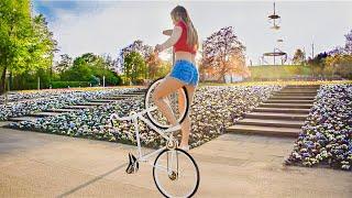 Girl with INCREDIBLE bike SKILLS   Summer vibes