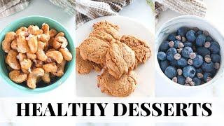 3 INGREDIENT DESSERTS That Are HEALTHY! Low Carb, Paleo Recipes