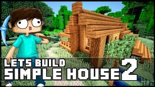 Minecraft How To Build A Simple Starter House 2 Minecraftvideos Tv