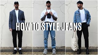 How To Style Jeans | 4 EASY Outfit Ideas | Mens Fashion
