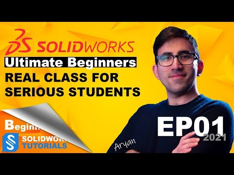 Ultimate SolidWorks Tutorial 2021 for Beginners (In depth explanation) Part 1