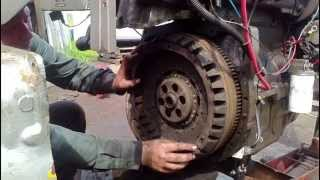 Replacing a 2 stage clutch