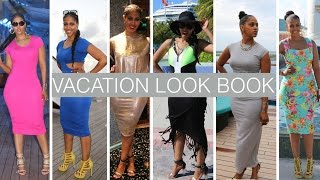 VACATION LOOK BOOK FOR CURVY WOMEN   WHAT TO WEAR ON A CRUISE   PROTECTIVE STYLES FOR NATURAL HAIR