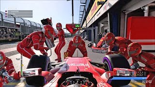F1 2017 - PIT Stop Gameplay (PC HD) [1080p60FPS]