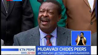 Mudavadi criticise leaders of spreading divisive, tribal and hatred  politics on the BBI report