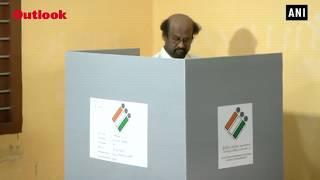 Lok Sabha Elections 2019: Rajinikanth Casts His Vote In Chennai