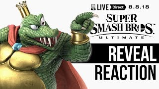 King K. Rool Reveal Reaction – Super Smash Bros. Ultimate Direct 8.8.18