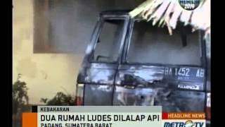 Dua Rumah Dan Satu Minibus Terbakar